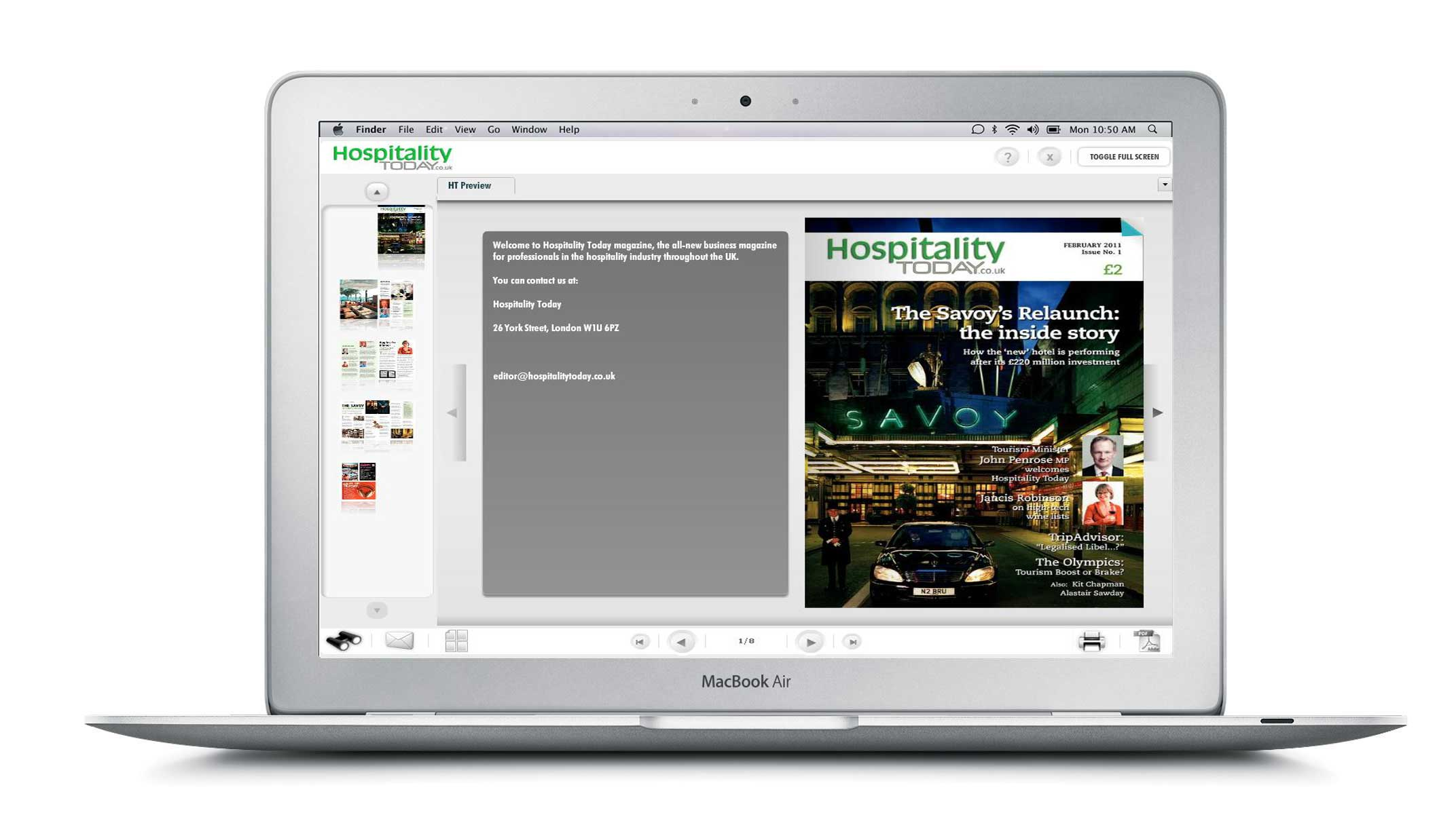 Read Hospitality Today, anytime, anywhere on any PC, Mac or laptop